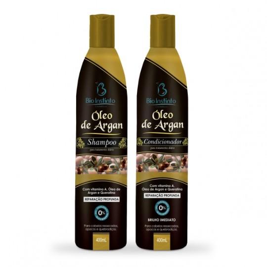 (COMBO) 06 Shampoos + 06 Condicionadores 400ml - ARGAN