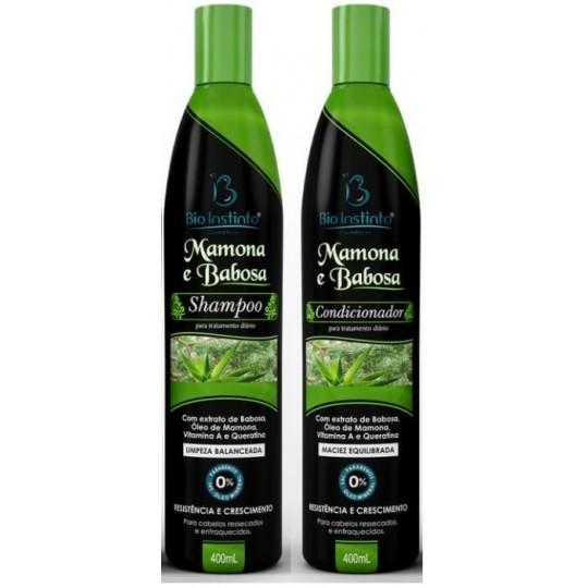 (COMBO) 06 Shampoos + 06 Condicionadores 400ml - MAMONA E BABOSA